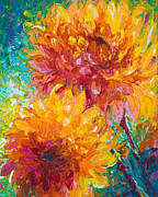 Colored Flowers Painting Posters - Passion Poster by Talya Johnson