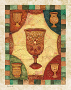Jerusalem Paintings - Passover cups - Mosaic by Michoel Muchnik