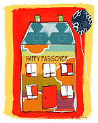 Yellow Green Posters - Passover House Poster by Linda Woods