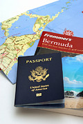 Beach Posters - Passport Frommers Travel Guide and map Poster by Amy Cicconi