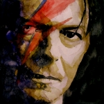David Bowie Portrait Paintings - Past and Present by Paul Lovering