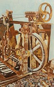 Machinery Drawings Originals - Past Its Prime by Linda Cleveland