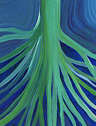 Tree Roots Paintings - Past Lives by jrr by First Star Art