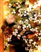 Apple Blossoms Mixed Media Prints - Past Memories Print by Denise Tomasura