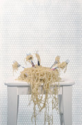 Kitchen Table Prints - Pasta For Five Print by Joana Kruse