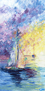Oil-color Painting Originals - Pastel Evening by Ash Hussein