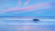 Beach Scenery Prints - Pastel Evening Print by Bill  Wakeley