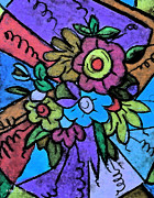 Stained Glass Pastels Prints - Pastel Joy Print by Angela McClinton