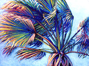 Fan Pastels Posters - Pastel Palm Poster by Laura Griffith