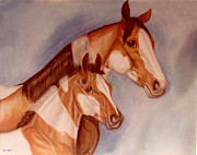 Pinto Paintings - Pastel Pinto by Kay Sparks