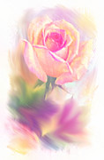 Decorating Mixed Media - Pastel Rose by Dennis Buckman