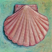 Seashell Painting Framed Prints - Pastel Shell Framed Print by Eve  Wheeler
