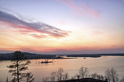 Jason Politte Prints - Pastel Sunset over the Arkansas River Print by Jason Politte