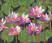 Featured Pastels Originals - Pastel Water Lilies I  by Vicki Barry