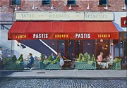 Cobblestone Painting Prints - Pastis Print by Anthony Butera