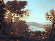 Famous Artists - Pastoral Landscape. The Roman Campagna by Claude Lorrain