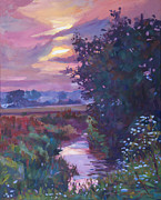 Water Reflections Originals - Pastoral Morning by David Lloyd Glover