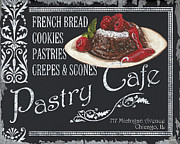 Bistro Painting Metal Prints - Pastry Cafe Metal Print by Debbie DeWitt