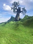 Fantasy Tree Posters - Pasture Poster by Cynthia Decker