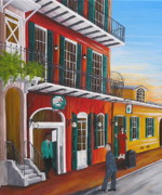 Obriens Paintings - Pat Os Courtyard entrance by Valerie Chiasson-Carpenter