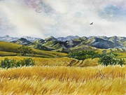 Summer Celeste Painting Prints - Patagonia Just Down the Valley Print by Summer Celeste