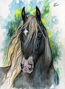 Gypsy Horse Prints - Patch Print by Angel  Tarantella