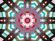 Needle Tapestries - Textiles Metal Prints - Patchwork Art Metal Print by Barbara Griffin