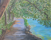 Wooded Originals - Path by Lake by Dawn Dreibus