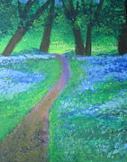 Pathways Painting Originals - Path in Woods by Diana Riukas