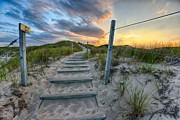 Walk Paths Prints - Path Over The Dunes Print by Sebastian Musial