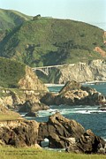 Path To Bixby Bridge Print by DJ Laughlin