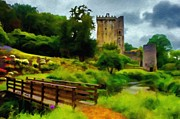 Cork Digital Art Framed Prints - Path to Blarney Castle Framed Print by Jeff Kolker