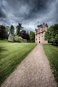 Historic Garden Prints - Path to Craigievar Castle Print by David Bowman
