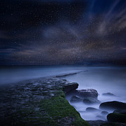 Night Prints - Path to infinity Print by Jorge Maia
