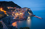 Evening Framed Prints - Path to Manarola Framed Print by Mike Reid