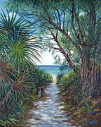 Danielle Perry Painting Framed Prints - Path to Serenity Framed Print by Danielle  Perry