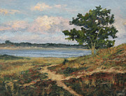Storm Clouds Cape Cod Painting Framed Prints - Path to the Harbor Framed Print by Gregory Arnett