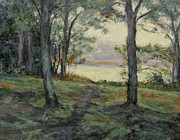 Gregory Arnett Paintings - Path to the Pond / Early Morning by Gregory Arnett