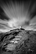 Exposure Framed Prints - Path to Twr Mawr Lighthouse Framed Print by David Bowman