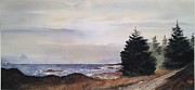 Don F. Bradford Framed Prints - Path To Ucluelet  WINTER SCENE   VICTORIA ISLAND  BC Watercolor  Framed Print by Don F  Bradford