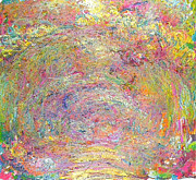 Jardins Painting Metal Prints - Path Under The Rose Trellises Metal Print by Claude Monet