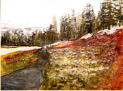 Wyoming Paintings - Pathway in the Tetons by Larry Farris