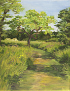 Haley Farm Prints - Pathway Leading Home Print by Elena Liachenko