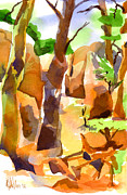 Formation Mixed Media Prints - Pathway Through Elephant Rocks 1b Print by Kip DeVore