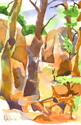 Formation Painting Posters - Pathway Through Elephant Rocks Poster by Kip DeVore