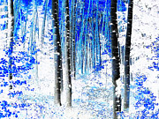 Aspen Grove Prints - Pathway Through The Woods Print by Terril Heilman