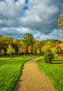Fall Landscape Print Framed Prints - Pathway to Autumn Framed Print by Steve Harrington