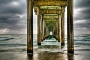 Pier Framed Prints - Pathway to the Light Framed Print by Aron Kearney Photography