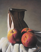 Peaches Pastels Prints - Patience Print by Charles T Jones