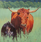 Cow Prints - Patience Print by Patricia A Griffin